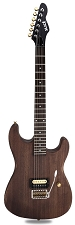 Slick SL54T Single Pickup Tremolo SOLID Ash Body Brown Ash Woodgrain