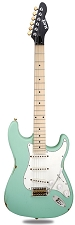 Slick SL57 Aged Surf Green Solid Ash Maple Fingerboard Alnico Pickups