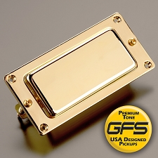 Mini Birds- Classic Covered Humbucker- Gold Case- Neck Position