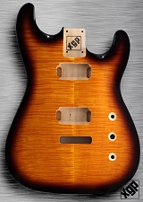 XGP Arched Top Strat Body Flamed Maple 2H Sunburst