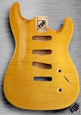 XGP Arched Top Strat Body Flamed Maple 3 Singles Vintage Natural
