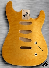 XGP Arched Top Strat Body Quilt Maple 3 Singles Vintage Natural