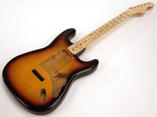 SPECIAL PURCHASE! Sunburst Strat Style GLUED-IN Setneck, Swimming Pool Rout TOP, Maple F/B