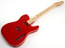 SPECIAL PURCHASE! BOUND Rocket Red Tele Style GLUED-IN Setneck, 2 Humbucker Maple F/B