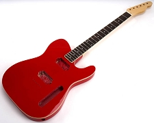 SPECIAL PURCHASE! BOUND Rocket Red Tele Style GLUED-IN Setneck, 2 Humbucker Rosewood F/B