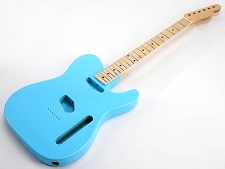 SPECIAL PURCHASE! Daphne Blue Tele Style GLUED-IN Setneck, Traditional Single Coil Maple F/B