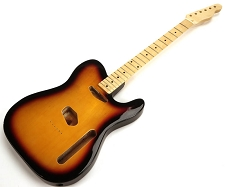 SPECIAL PURCHASE! Sunburst Tele Style GLUED-IN Setneck, Traditional Single Coil Maple F/B