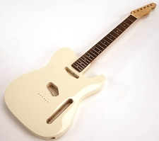 SPECIAL PURCHASE! Ivory Tele Style GLUED-IN Setneck, Traditional Single Coil Rosewood F/B