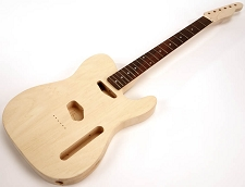 SPECIAL PURCHASE! Unfinished Tele Style GLUED-IN Setneck, Traditional Single Coil Rosewood F/B