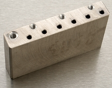 USA 11.3mm Spaced Machined Solid Titanium Tremolo Block