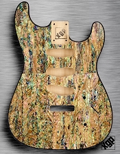 XGP REAL ABALONE SHELL Strat Style Body 3 Single Coils