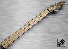 XGP Professional Strat Style Neck Maple REAL Abalone SHELL