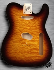 XGP Professional Tele Body Quilt Maple Sunburst