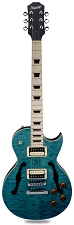 Maple Fingerboard! XV-550 Carved Flamed Maple Top Ocean Blue