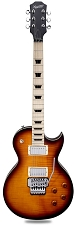 MAPLE FINGERBOARD! XV555 Double Locking Tremolo Flamed Maple LP Vintage Sunburst