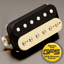 GFS professional Series Alnico V HOT Humbucker Zebra Case Bridge Pickup