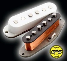 KP - 64 Stagger Overwound Grey-Bottom Rock Pickups - Kwikplug® Ready