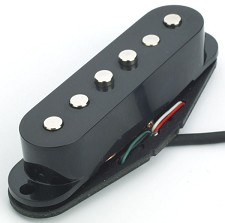 Black NAL5 Alnico Single Pickup- Mellow
