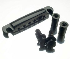 Black Stop Tailpiece with Mounting Studs