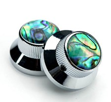Chrome Bell Knobs Real Abalone Tops