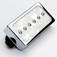 Dream 90 Humbucker SIzed P90 White Pearl/Chrome Bridge Position