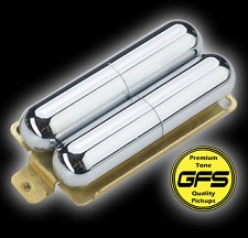 KP - GFS Pro-Tube Lipstick Humbucker Pickup- Cool Chimey Tone, Chrome - Kwikplug™ Ready