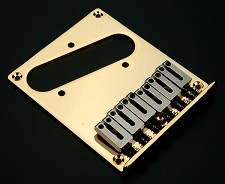 """Modern Style"" Tele Upgrade Bridge Stainless Steel Saddles GOLD"