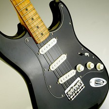 Tuxedo 70s' Style Prewired pickguard White on Black 3 ply