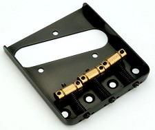 """Vintage Style"" Tele bridge 3 Brass Saddles Black"