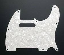 White Mother of Pearl Telecaster Pickguard