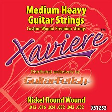 Full case of 12 sets .012-.052 Xaviere medium heavy Guitar Strings
