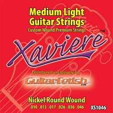 Full Case of 12 Sets .010-.046 Xaviere Medium Light Guitar Strings