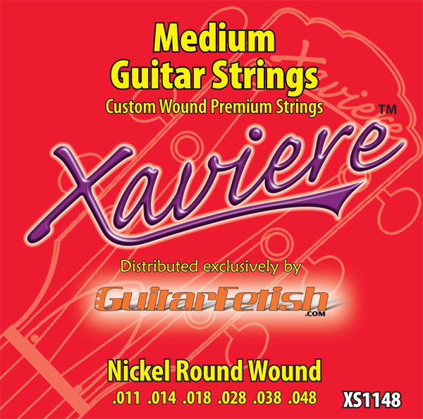 Full Case of 12 sets .011-.048 Xaviere Medium guitar Strings