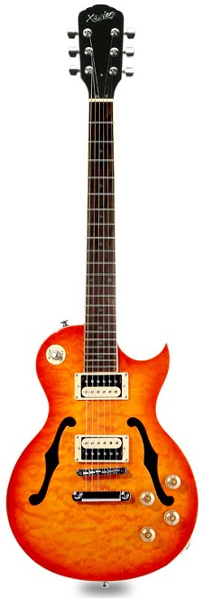 XV-550 Semi-Hollow carved Top- Solid Maple Top - Amber Sunrise - Blem