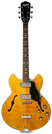 XV-910 Semi Hollowbody GFS Anico Dogears Deep Natural -Blem