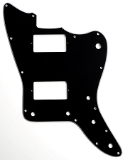 XGP 3 Ply Black Offset Pickguard- 2 Humbucker pickups