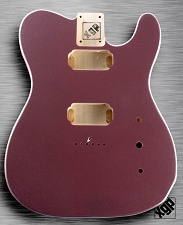 XGP Professional Tele Body 2 Humbuckers Burgundy Mist Metallic