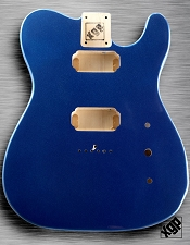 XGP Professional Tele Body 2 Humbuckers Lake Placid Blue Metallic