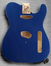 XGP Professional Double Bound Tele Body Lake Placid Blue Metallic