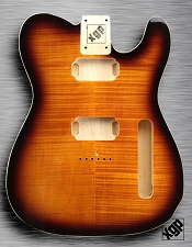 XGP Professional Tele Body 2 Humbuckers Flamed Maple Sunburst