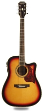 Sunburst Cutaway Acoustic-Electric, Solid Spruce Top, Mahogony back and sides