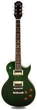 XV-500 Carved Top Flamed maple Transparent Green