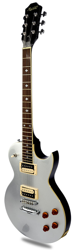 New xv carved top flamed maple metallic silver