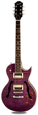 XV-550 Semi Hollow Carved Maple Quilt Top Transparent Purple