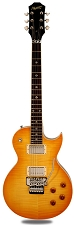 NEW! XV555 Double Locking Tremolo Carved Top LP Lemon Drop Flamed Maple - Blem