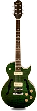 XV-560 Semi Hollow Carved Solid Maple Top Quilted Transparent Green