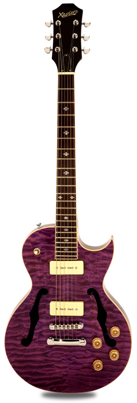 Xv semi hollow carved solid maple top quilted