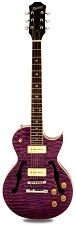 XV-560 Semi Hollow Carved Solid Maple Top Quilted Transparent Purple