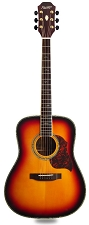 XV_580 - SUNBURST! Solid Spruce Top Solid Rosewood Back and Sides with Binding  -Blem