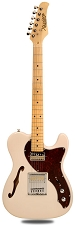 XV-845 Ivory Thinline Tele Alder Body Gold Foil Pickups maple Fingerboard